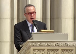 <p>Michael Gerson delivers guest lecture at Washington National Cathedral </p>