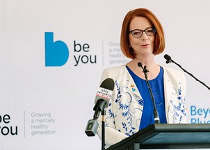 <p>Julia Gillard is renowned for her mental health advocacy work</p>