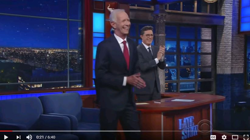Capt. Sullenberger joins Stephen Colbert on the Late Show