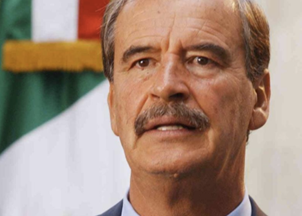 <p>Former President of Mexico Vicente Fox reacts to President Trump</p>