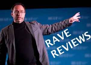 <p>Rave Reviews for Jimmy Wales</p>