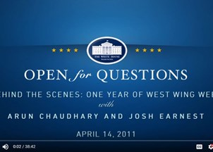 <p>Josh Earnest Voices the West Wing Week </p>