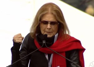 <p> Gloria Steinem at the Women's March on Washington: 'Don't try to divide us'</p>