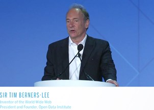 <p>Tim Berners-Lee awarded prestigious Innovation Award at Global Financial Leadership Conference </p>