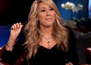 <p>Lori Greiner teaches her audience how to swim with the sharks</p>