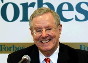 <p>Steve Forbes delivers dynamic and timely back-to-back speeches</p>