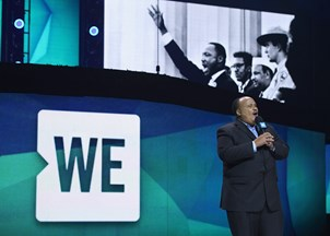 <p><strong>Martin Luther King, III is a sought-out, smash hit at WE Day events </strong></p>
