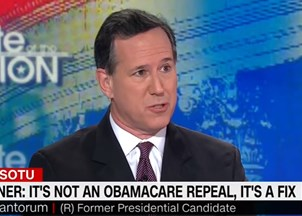 <p>Rick Santorum joins CNN as a political commentator</p>