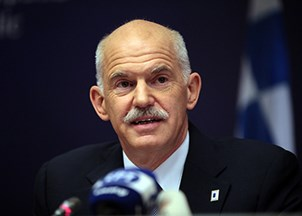 <p>George Papandreou honored with Distinguished Leadership Award </p>
