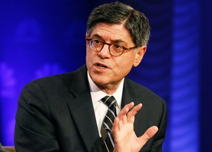 <p>Jack Lew addresses concerns of global financial security on BBC</p>