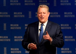 <p>Al Gore delivers powerful remarks at Milken Institute Summit </p>