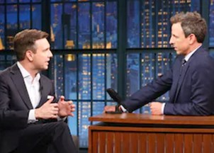 <p><strong>Josh Earnest delivers sharp, hilarious one-liners on Late Night with Seth Meyers </strong></p>