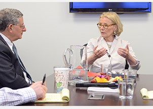 <p><strong>Peggy Noonan visits the Harry Walker Agency</strong></p>