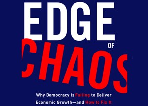 <p>Dambisa Moyo's new book, EDGE OF CHAOS: Why Democracy Is Failing to Deliver Economic Growth—and How to Fix It</p>