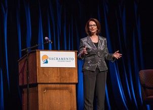 <p>Julia Gillard is a global leader on education</p>