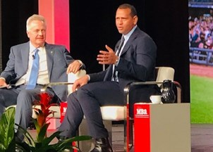 <p>Alex Rodriguez knocks it out of the park at Mortgage Bankers Association event</p>
