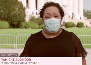 <p>Yamiche Alcindor covering the stories of our time</p>