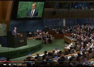 <p>Dov Seidman addresses the United Nations on Principled Leadership</p>