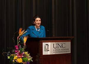 <p>Senator Olympia Snowe a big hit with UNC's Kenan-Flagler Business School</p>