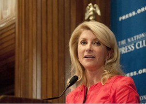 <p>Wendy Davis on tough Political Campaigns and Sexism</p>