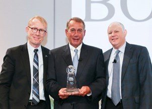 <p>Former Speaker of the House John Boehner honored by Futures Industry Association</p>