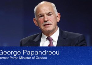 <p>Papandreou Addresses Human Perspective on Refugee Crisis at SALT 2016</p>