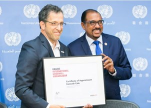 <p>Renowned designer and amfAR Chairman Kenneth Cole named UNAIDS International Goodwill Ambassador</p>