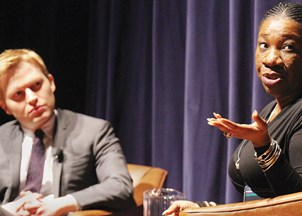 <p>Tarana Burke and Ronan Farrow get rave reviews at Youngstown State University </p>