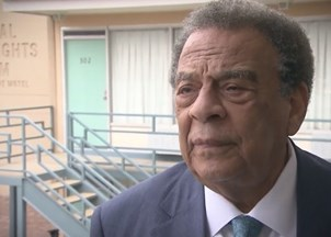<p>Ambassador Andrew Young interviewed on the 50<sup>th</sup> anniversary of Martin Luther King Jr.'s assassination</p>