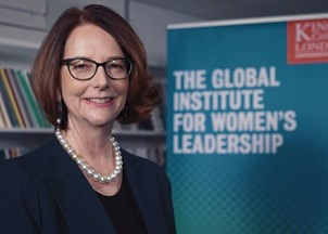 <p><strong>Julia Gillard named inaugural chair of the new Global Institute for Women's Leadership at King's College </strong></p>
