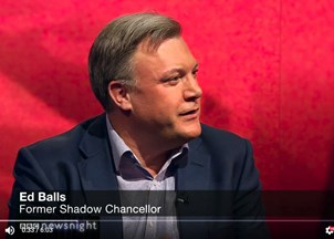 <p>Ed Balls in the news</p>