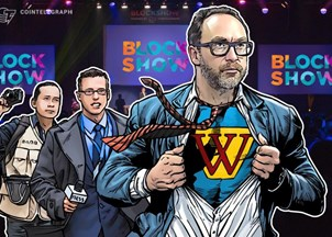 <p>Jimmy Wales makes headlines at the biggest crypto conference in Europe</p>
