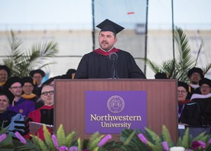 <p>Cody Keenan's convocation address earns tweets of praise </p>