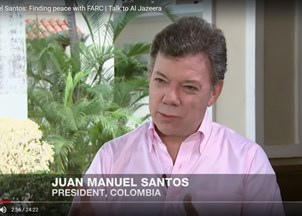 <p>Juan Manuel Santos in the news</p>