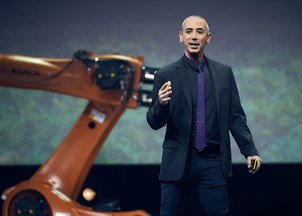 <p>Steven Kotler shows impossible has a formula at the Nordic Business Forum </p>