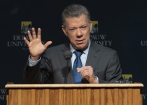 <p>President Juan Manuel Santos is a sought-out voice on the environment </p>