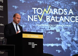 <p>Rhodes is a smash hit at the Swiss International Finance Forum </p>