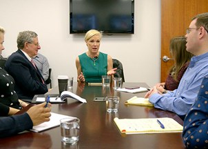 <p>Cecile Richards visits HWA </p>