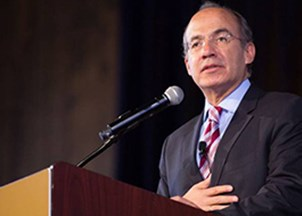 <p>Felipe Calderon is a go-to voice on sustainability and climate change</p>