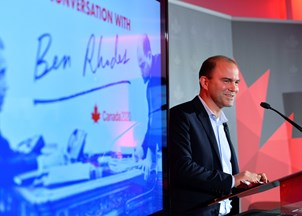 <p>Ben Rhodes keeps the tweets of praise rolling in at #Canada2020</p>