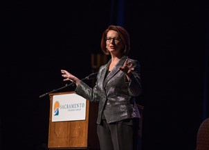 <p>Julia Gillard offers fresh insights on geopolitics </p>