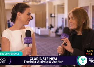<p>Gloria Steinem makes headlines at the MAKERS Conference </p>